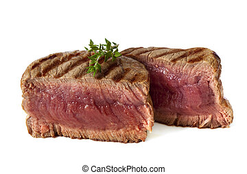 Filet Mignon - Filet mignon, char-grilled to medium rare...