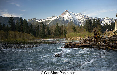 White Horse Mountain Darrington Washington North Cascades -...