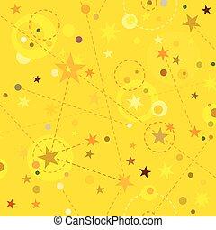 Golden Stars seamless pattern swatch background - Golden...