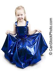 azul, reverencia, princesa