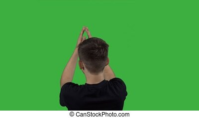Clapping Hands on green screen 4k - Clapping Hands on green...