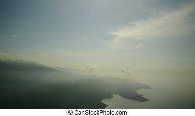 View from the airplane on Montenegro. - View from the...