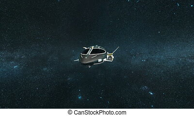 Space ship - 3D CG rendering of a space ship.