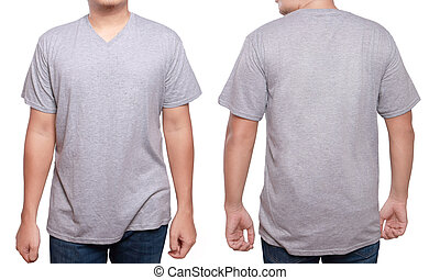 Misty Grey V-Neck shirt design template - Misty Grey t-shirt...