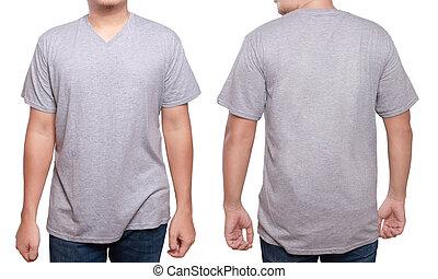 Misty Grey V-Neck shirt design template - Misty Grey t-shirt...