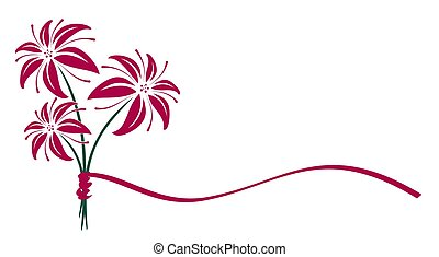 Bouquet of lilies. - Logo of bouquet lilies.