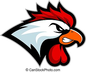 Chicken rooster head mascot 2 - Clipart picture of a chicken...