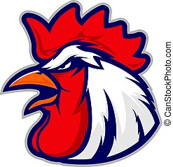 Chicken rooster head mascot 3 - Clipart picture of a chicken...