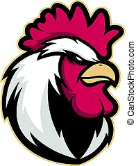 Chicken rooster head mascot 4 - Clipart picture of a chicken...