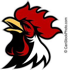 Chicken rooster head mascot 6 - Clipart picture of a chicken...
