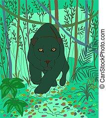 Black jaguar is a very beautiful animal-melanistic - Jaguar...