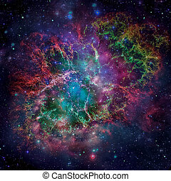 Colorful space nebula. Elements of this image furnished by...