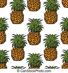 pineapple palm pattern - Background of pineapple fruit,...