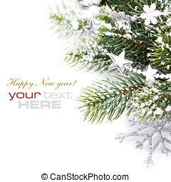 Christmas decoration isolated on the white background with...