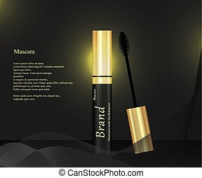 mascara on a close background with brush