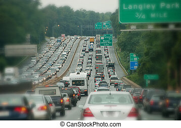 Traffic Congestion - Road Traffic Congestion near...