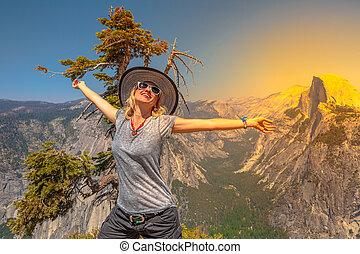 Enjoying at Yosemite