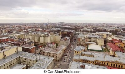 Saint-Petersburg aerial shot