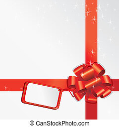 Gift Bow With Empty Card For Your Text
