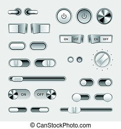 Toggle switch buttons vector set - Toggle switch buttons...