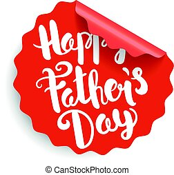 Happy Fathers Day label
