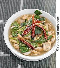 tom yum soup - mushroom tom yum spicy soup