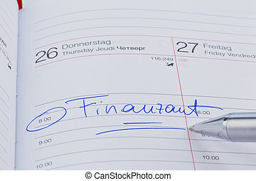 entry to the calendar: tax office - an appointment is...