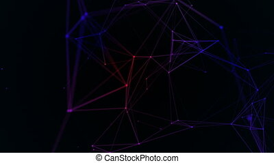 Abstract beautiful geometric background with moving lines,...