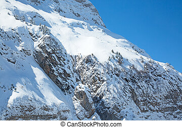 Winter in alps - Winter in the swiss alps near mount Santis,...