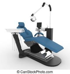 3D, 歯科医, 椅子