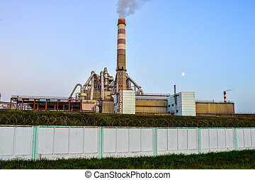 Pollution of atmospheric air from the chimneys of plants