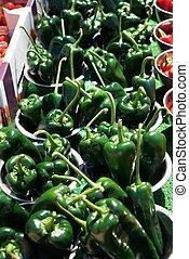 pimiento morrón, pimienta, granjeros, dulce, vendido,  Stratford-upon-Avon, pimiento, o, Mercado