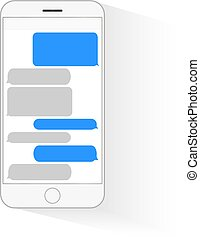 Text messaging mobile phone - Text messaging bubbles boxes...