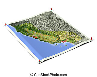 California on unfolded map sheet - California on unfolded...