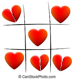 Heartbreak Love Hearts Tic Tac Toe - Heartbreak tic tac toe...