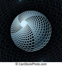 Gravity Sphere - Fantasy Metal Sphere with Spiral Holes...