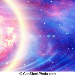 energy flash in space background