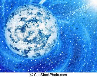 beauty space stars light backgrounds