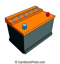 For automobile battery.Car single icon in cartoon style...