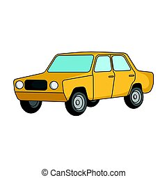 Old car.Car single icon in cartoon style vector symbol stock...