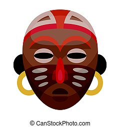 African tribal mask.African safari single icon in cartoon style vector symbol stock illustration web.