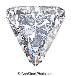 3D illustration trillion straight diamond stone