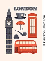Vector illustration London - Vector postcard London....