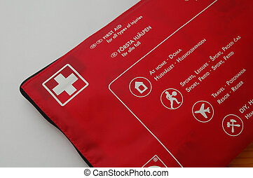 First aid Kit - Emergency First Aid Kit on White Background