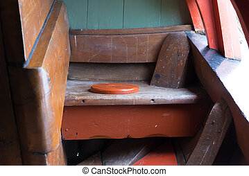 medieval ship's toilet - One of the rear toilets on board of...