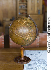 old antique globe