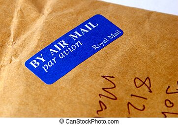 airmail - This is a image of postal airmail