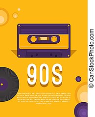 Music of the 90s. - Poster music of the 90s and 80s. Flyer...