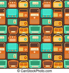 Vector seamless pattern nostalgia.