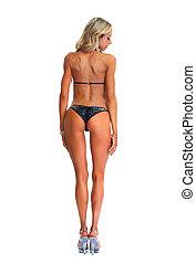 Sexy girl - Young beautiful sexy woman in bikini with...